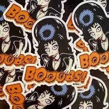 Elvira Boobs Die Cut Vinyl Sticker