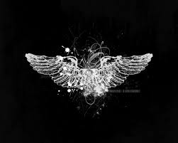 angel wing logo digital art black