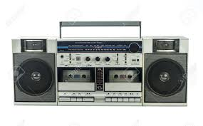 Retro Ghetto Blaster Isolated On White Stock Photo, Picture And Royalty  Free Image. Image 14733111.