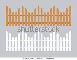 Wooden Fence Illustration Farm Wood Wall Stock Vector Royalty Free 1445593568