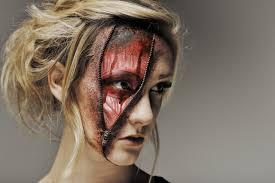 zipper face zombie halloween makeup