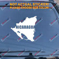 Amazon Com Nicaragua Map Outline Silhouette Decal Sticker Car Vinyl Die Cut No Bkgrd Silver 20 50 8cm Arts Crafts Sewing
