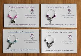 gifts personalised wine glass charms