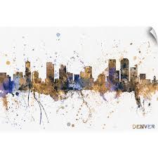 Home Garden Denver Colorado City Skyline Cityscape Silhouette Car Decal Window Wall Sticker Decor Decals Stickers Vinyl Art Hypewell Com