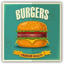 Amazon Com Burgers Food Emblem Car Bumper Sticker Decal 5 X 5 Kitchen Dining