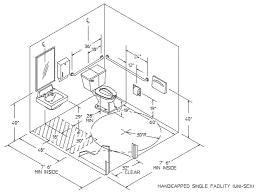 dimensions ada handicap bathroom