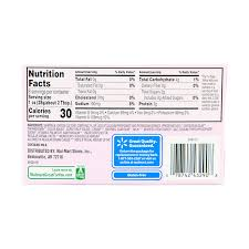 nutrition cream cheese nutrition facts