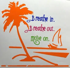 Breathe In Breathe Out Move On Jimmy Buffett Tropical Car Decal Design One Ebay