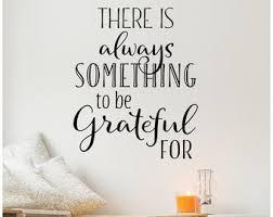 Gratitude Wall Decal Etsy