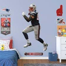 Rob Gronkowski Life Size Officially Licensed Nfl Removable Wall Decal Removable Wall Decals Gronkowski Rob Gronkowski