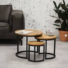 industrial coffee table oxford set of