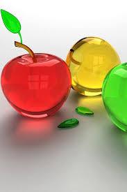 apple 3d color apple iphone 4 640x960