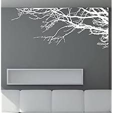 Amazon Com Large Tree Wall Decal Sticker Semi Gloss White Tree Branches 44in X 100in Right To Left Removable No Paint Needed Tree Branch Wall Stencil The Easy Way Kitchen Dining