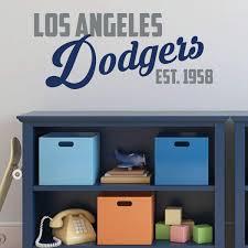 La Dodgers Wall Decal Est Vinyl Decor Wall Decal Customvinyldecor Com