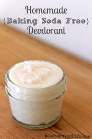 homemade baking soda free deodorant