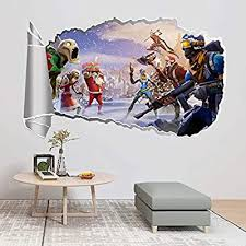 Cartoon 3d Self Adhesive Fortnite Wall Sticker Wall Decoration Children S Room Wall Decal Fortnite Wall Stickers 8qz1188 Buy Online At Best Price In Ksa Souq Is Now Amazon Sa