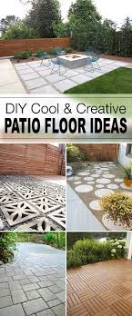 cool creative patio flooring ideas