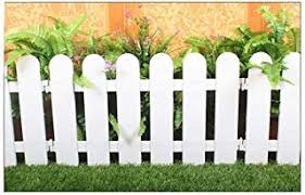 Chicieve 4 Pcs White Plastic Fence Christmas Xmas Tree Wedding Party Decoration Miniature Home Garden Border Grass Lawn Edge Fence One Pack Is 200cm In Total Nanemjagung6723