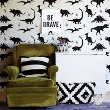 Jurassic Park Dinosaurs Wall Mural Stencils For Kids Room Or Nursery Royal Design Studio Stencils
