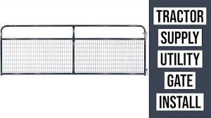 Digital David Tractor Supply Utility Gate Installation Countyline Wire Filled Tube Gate Review Facebook