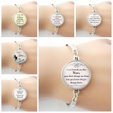 friendship bracelet good friends are like stars quotes glass