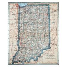 Map Of Indiana 1921 Peel Stick Removable Wall Decal Traditional Wall Decals By Art Megamart