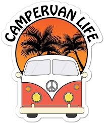 Amazon Com Camper Life Van Camping Road Trip Travel Adventure Car Sticker Decal Automotive