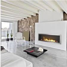 fire 36 inch biofuel fireplace wall