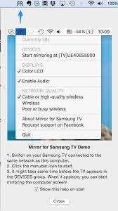 airplay mirror mac to samsung smart tv