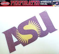Amazon Com Arizona State Sun Devils Sd Medium 8 Perforated One Way Auto Window Film Glass Decal University Of Automotive