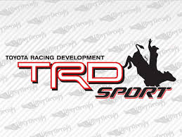 Toyota Trd Sport Bull Decal Stickers