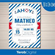 Yerob Digital Tarjetas Invitaciones Cumpleanos Nautica Pack