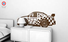 Racing Car Xl Wall Decal Nursery Kids Rooms Wall Decals Boy Room Wall Stickers Car Wall Decals And Wall Decors