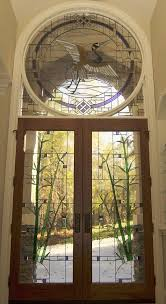 custom made stained glass door with