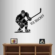 Amazon Com Wall Vinyl Decal Home Decor Art Sticker Ice Hockey Player Phrase Boy Man Sports Room Removable Stylish Mural Unique Design 342 Home Kitchen
