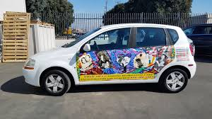 Corporate Promotional Car Decals For A Charity Company