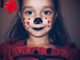 lady bug kids halloween makeup feat