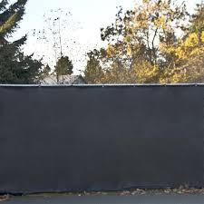 Privacy Mesh Fabric Screen Fence With Grommets 6 X 150 Feet Black Aleko