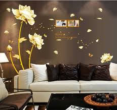 Golden Time Riches And Honour Flowers Chinese Style Diy Wall Stickers Living Room Tv Sofa Background Mural Decal Ay9188 Stickers Living Wall Stickerwall Sticker Living Room Aliexpress