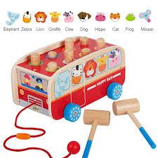 Đồ chơi xe bus đập chuột - Đồ chơi cho bé 1 tuổi - ĐỒ CHƠI GỖ CON CƯNG