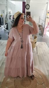 Robe longue SONIA rose poudré - Les robes et jupes - ladyandmummyshop