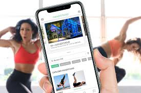 fitness app handstand sends a personal