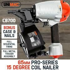 unimac coil nail gun nailer 32 65mm air