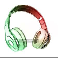 Headphone On Isolated Background Wall Decal Pixers We Live To Change