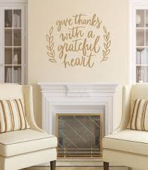 Give Thanks With A Grateful Heart Vinyl Wall Decal 22633 Fall Decor Cuttin Up Custom Die Cuts