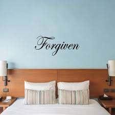 Vwaq Forgiven Wall Decal Inspirational Forgiveness Quotes