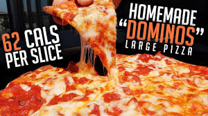 low cal dominos large cheese pizza