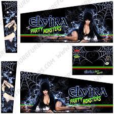 Elvira Alternate Pinball Cabinet Decals Flipper Side Art Retro Refurbs
