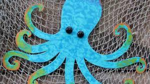 metal wall art octopus hanging