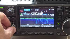icom ic 7300 spectrum scope waterfall